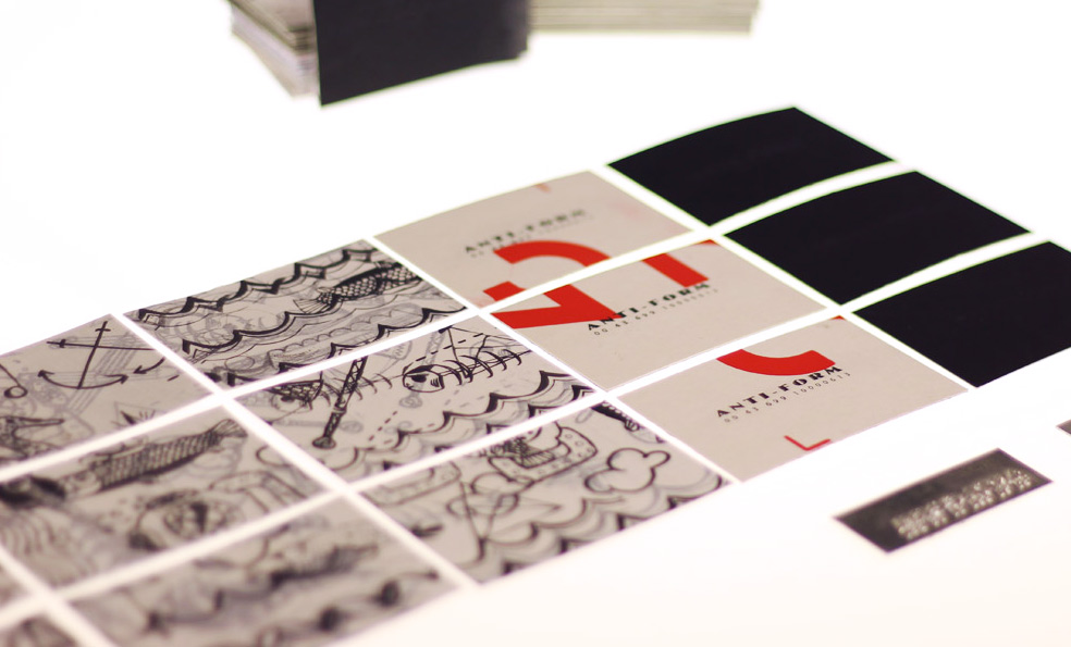 HANDMADE BUSINESS CARDS | ANTI-FORM